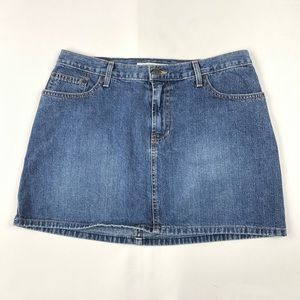 Vintage Abercrombie & Fitch Womens Jean Mini Skirt